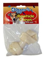 Bone Small White Rawhide