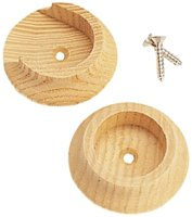 Pole Socket Wood W/Screws 2/Pk
