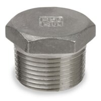 Plug Hex Head S-Steel 1/4""