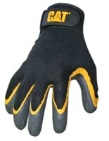 Gloves Blk Latex Coated Palm L