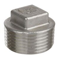 Plug Sq Head S-Steel 1/8""