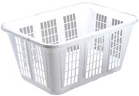 Laundry Basket 1.25-Bu White