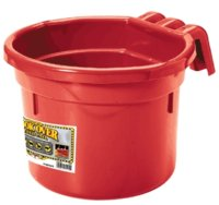 Feed Pail 8-Qt Hook-Over Red