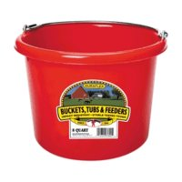 Bucket 8-Qt Blue Plastic
