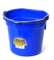 Bucket 20-Qt Flat-Back Blue