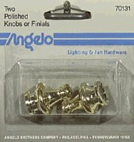 Knob Polished Brass 2/Cd