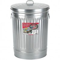 Trash Can 31-Gal Galv W/Lid