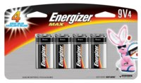 Battery 9v Energizer Max 4/Pk