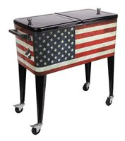 Patio Cooler 80-Qt Old Glory