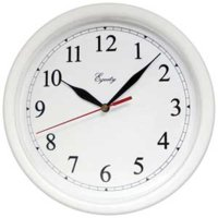 "Wall Clock 10"" White Analog"