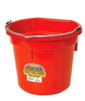 Bucket 8-Qt Flat-Back Red