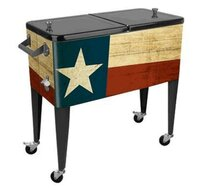 Patio Cooler 80-Qt Texas Flag