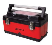 "Tool Box 19"" Red/Black W/Bins"