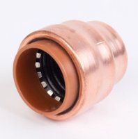 End Cap Copper Push Fit 3/4""