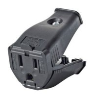 Connector 3-Wire Hinged Black