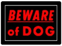 Sign 10x14 'Beware Of Dog'