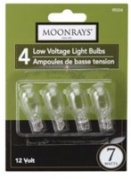 Bulb 7w Wedge Base Clear 4/Pk