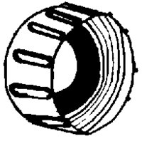 "Hose Cap 3/4""pvc Thread"