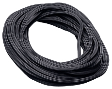 "Spline .160""x25' Blk Serrated"