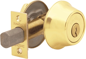 Deadbolt Bp Sgl Pb K3