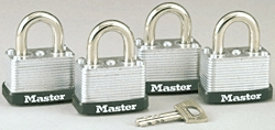 Padlocks: Laminated Steel, Warded