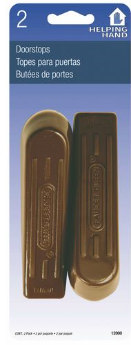 Door Wedge Brown Rubber 2/Pk