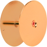 "Hole Cover Plate 2-5/8"" Brass"