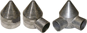 "Bullet Cap 2-3/8"" Alum 1-Way"
