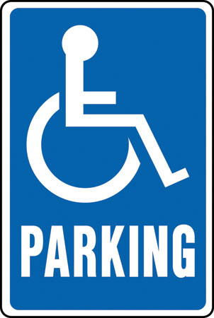 "Sign12x18""handicappd Parking"""