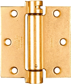 "Hinge 4"" Sq Spring Satin Brass"