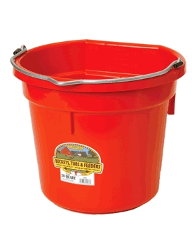 Bucket 20-Qt Flat-Back Red