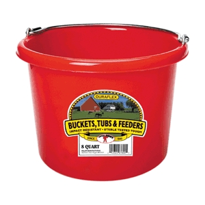Bucket 8-Qt Flat-Back Blue