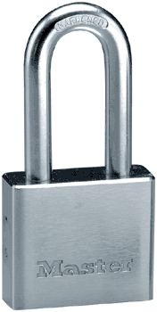 "Padlock 2"" Chrome Steel"