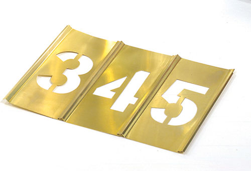 Numbers, Letters: Stencils, Brass, Plastic
