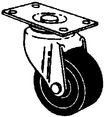 Casters: Furniture, Plate Mount