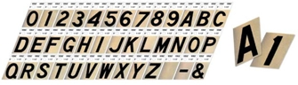 Numbers, Letters: Aluminum, Reflective