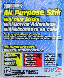 "Glue Stick All-Temp Mini 4""12p"