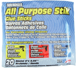 "Glue Stick All-Temp 4"" 20/Pk"