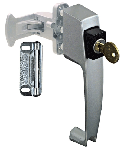 Latch Pushbutton W/Key Silver