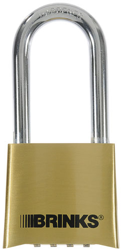 "Padlock 2"" Brass Reset Long Sh"