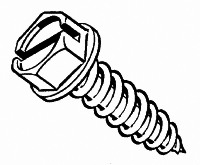 Screws: Tapping, Hex Washer Head, Zinc