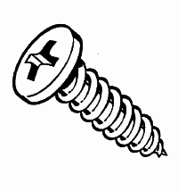 Screws: Tapping, Phillips, Pan Head, Zinc