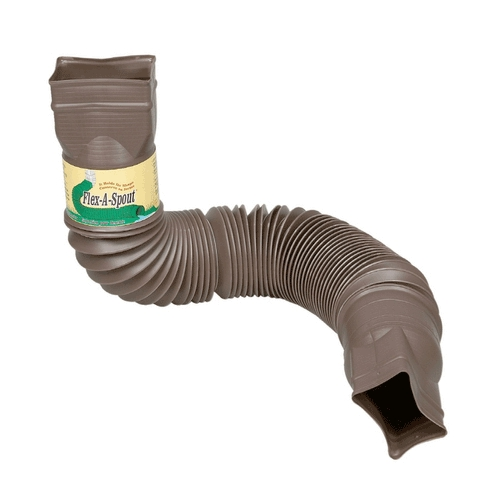 Downspout Brown Flex-A-Spout