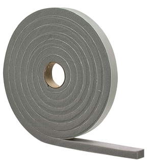 Foam Tape 1/4x1/2x17'W/A Gray