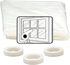 "Window Kit 40""x64"" Shrink&Seal"