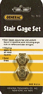 Squares: Stair Gauges