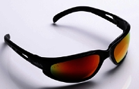 Safety Glasses Black Red Mirro