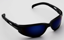 Safety Glasses Black Bluemirro