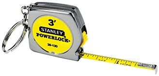 "Tape Measure 1/4""x3' Key Chain"