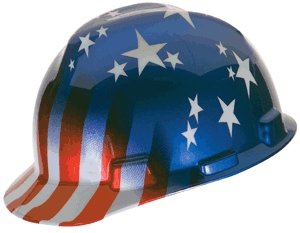 Hard Hat Usa Flag Patriotic